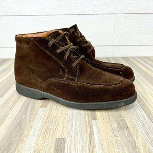 TODS Mens Size 7.5 Lace Up Chukka Boots Brown